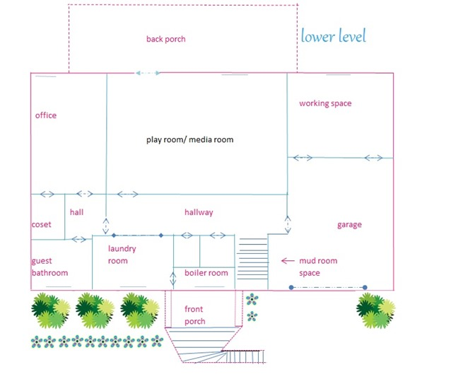 our home plans lower level