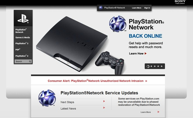 sony ps website
