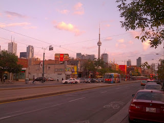 traffic stopped on Spadina