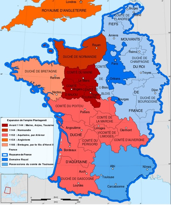 Mapa d'Aquitània 1152