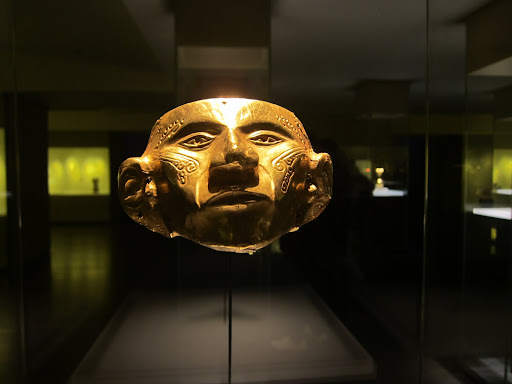 Pre-Colombian bling at the Gold Museum, Bogota, Colombia