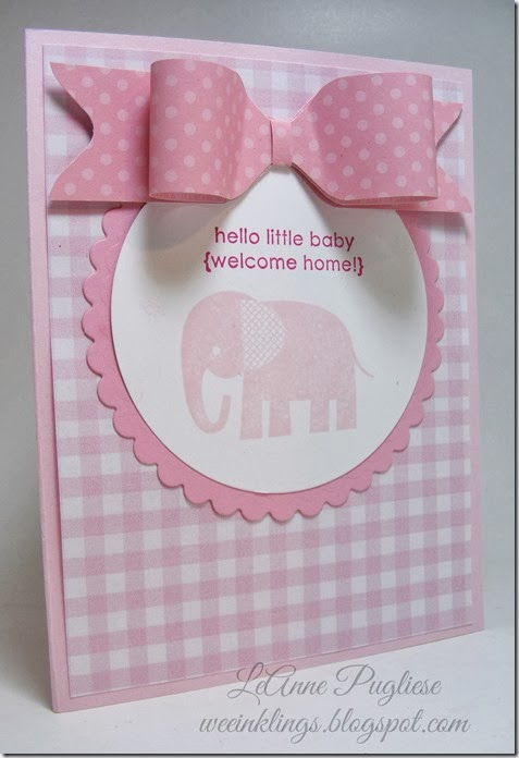 LeAnne Pugliese WeeInklings Zoo Babies Stampin Up Baby Card