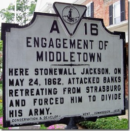 Engagement Of Middletown marker A-16 in Middletown, VA