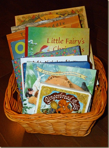 Christmas Book Basket