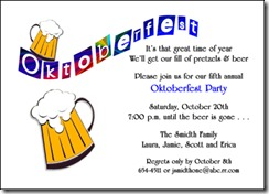 Oktoberfest beer party invites