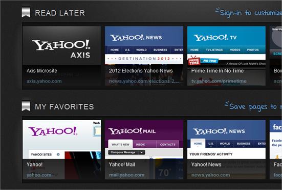 Yahoo! Axis y su forma de navegación, analizado a fondo