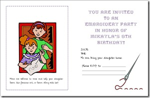 SAMPLE Embroidery Party Invite - inside