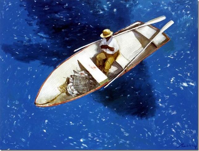 Julio Larraz -The Big Fish.