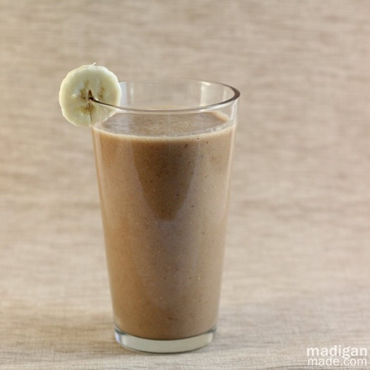 mocha banana coffee smoothie recipe - madiganmade.com