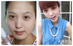 chinese girls makeup before and after  (22)