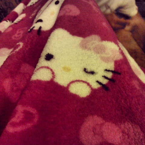 16 Hello kitty snuggie