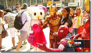 TIme Square characters