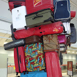 packing my bags at Pearson Airport in Milan, Milano, Italy