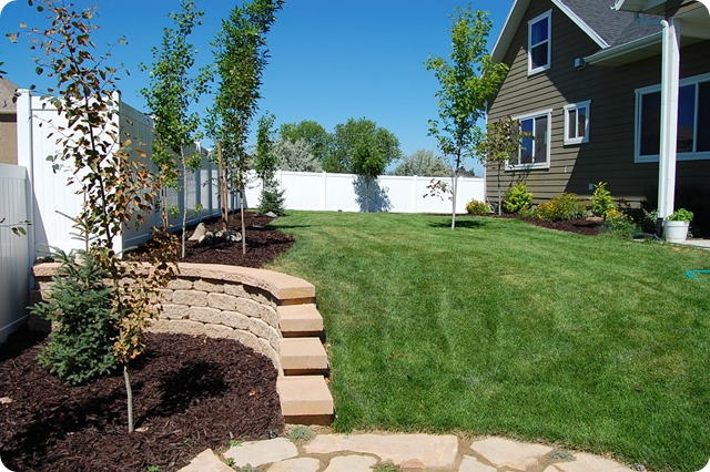 landscaped yard with fence 003