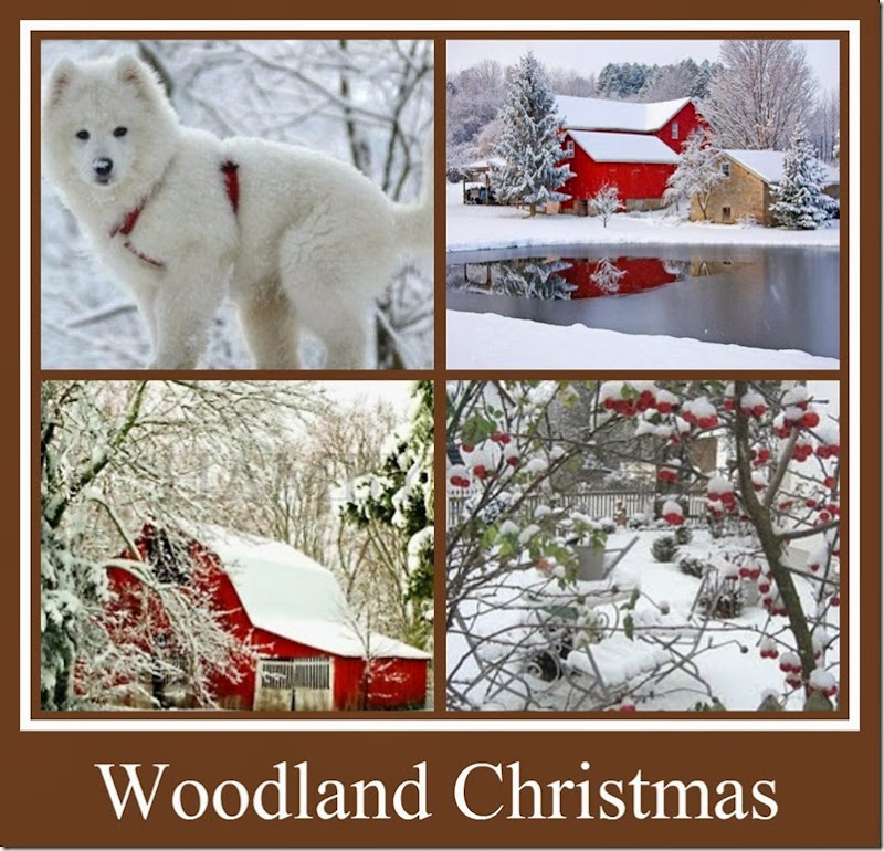 Ribbet collage Woodland Christmas 2