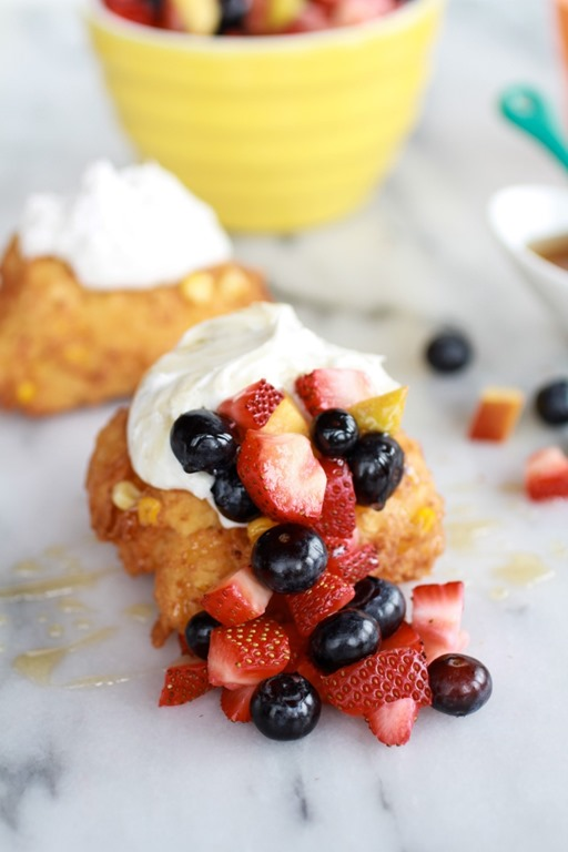 Corn-Fritters-with-Coconut-Whipped-Cream-and-Sweet-Honey-Bourbon-Syrup-1