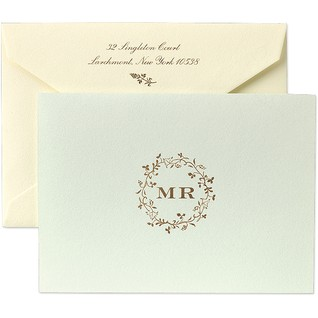 With more details to it, this Martha Stewart Flourish Wreath thank-you card would be perfect for a formal letter.