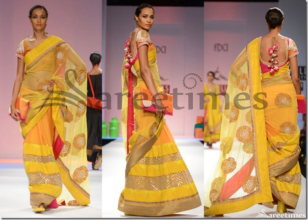 Erku_Yellow_Shimmer_Saree