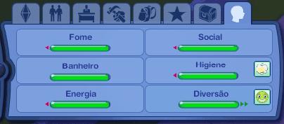 Sims 3 deixe todas as necessidades verdes e sempre feliz