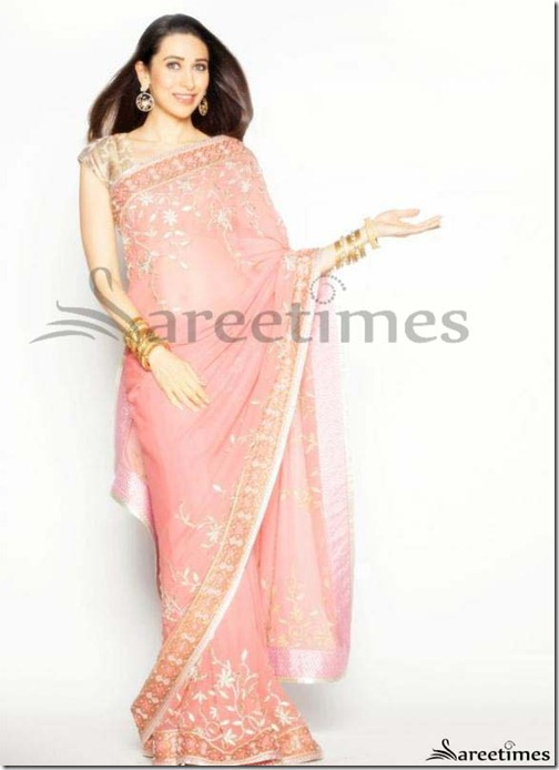 Kaarishma_Kapoor_Pink_Saree