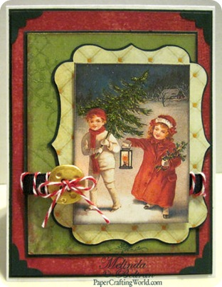vintage christmas kids card 500