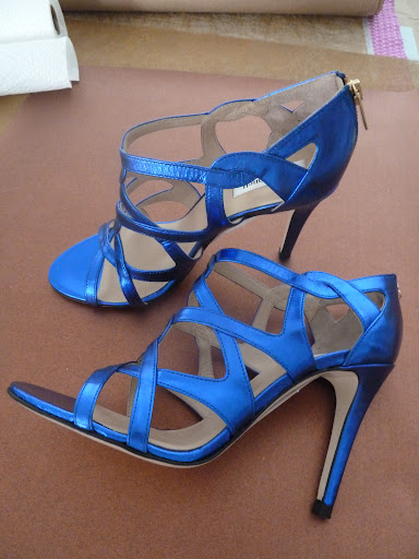 A bold blue pair by L.K. Bennett... How rad would these be for your 