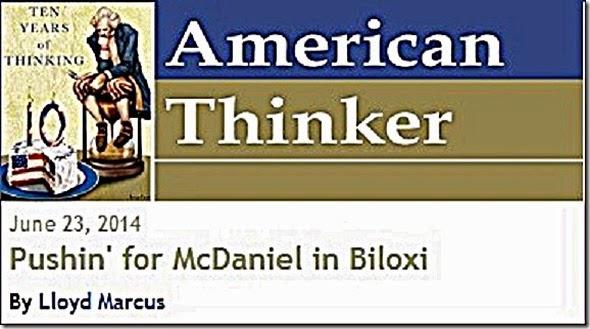 American Thinker & Lloyd Marcus byline foto
