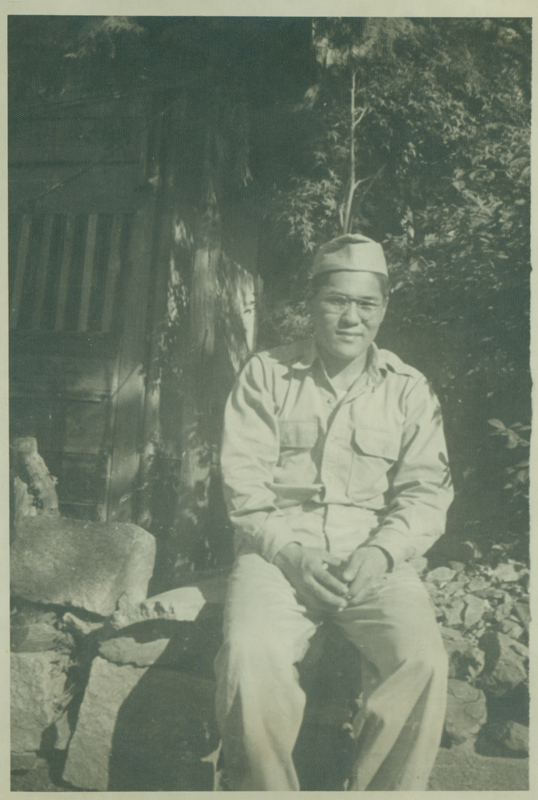 John Nojima in military uniform. In 1960 W. Dorr Legg and Nojima started dating and remained together until Legg's death in 1994. Undated