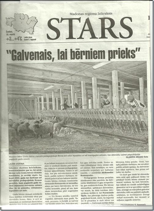 Raksts Starā par fermu 2012