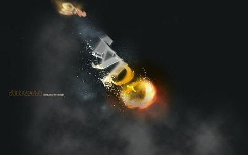 Crear texto meteorito 3D