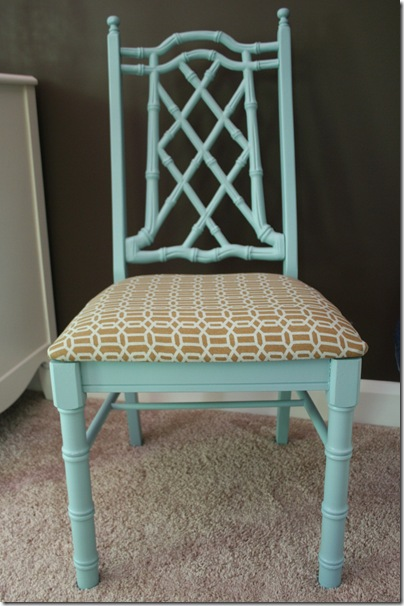 Faux bamboo chair for bedroom 003