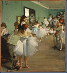 Clase de ballet 1874 Edgar Degas