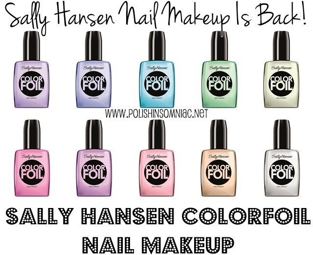 They're back!  Sally Hansen ColorFoil Nail Makeup (aka Chromes)
