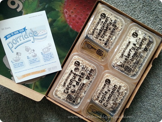 graze box breakfast snacks porridge