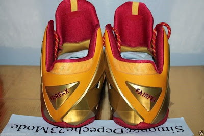 nike lebron 11 pe fairfax away 1 04 Nike LeBron XI (11) Fairfax Lions Away PE   Detailed Look