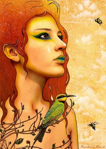 Rainbow_Bee_Eater___Fairy_Art_by_enchantedgal