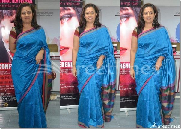 Lakshmi_Rama_Krishnan_Blue_Kota_Silk_Saree