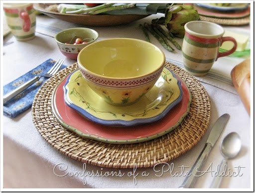 CONFESSIONS OF A PLATE ADDICT The Secrets of Pistoulet Tablescape & CONFESSIONS OF A PLATE ADDICT: Pfaltzgraff Pistoulet Dinnerware Giveaway