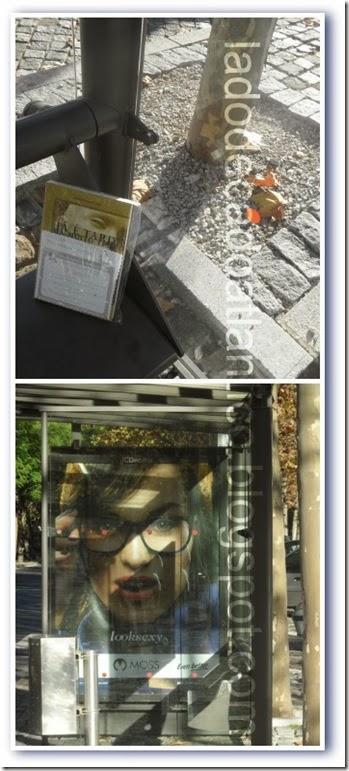 """Duas fotos do ponto de ônibus onde foi libertado o romance """"Já É Tarde Há Muito Tempo"""" de Enrico-Maria Parodi"""