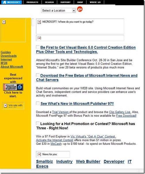 Microsoft octubre 1996