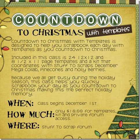 Countdown To Christmas with Templates