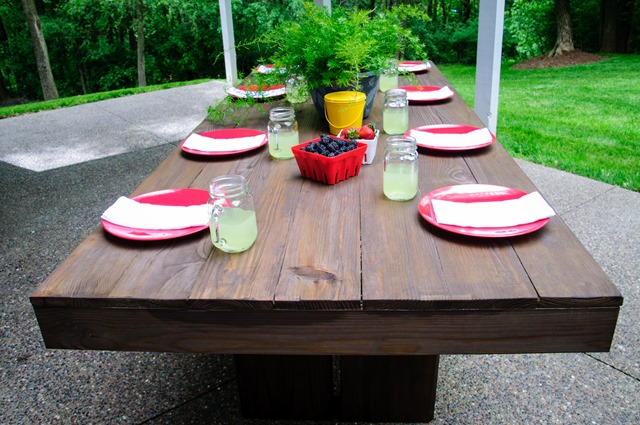 diy outdoor patio table decor and the dog