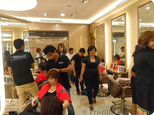 Priscilla Tresemme Keratin Treatment blogger salon