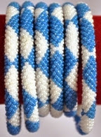 rollover bracelet blue white