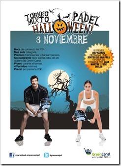 Torneo Mixto de Pádel Halloween en Green Canal Golf Madrid el 3 noviembre de 2012.