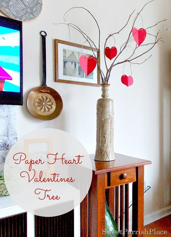 paper heart Valentine Tree