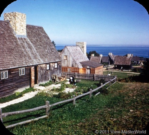 View-Master Cape Cod and Plymouth (A727), Scene 3-4: Winslow House, Plimoth Plantation