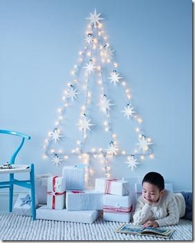 String Light Wall Tree