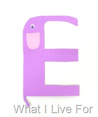 E is for Elephant @ What I Live For