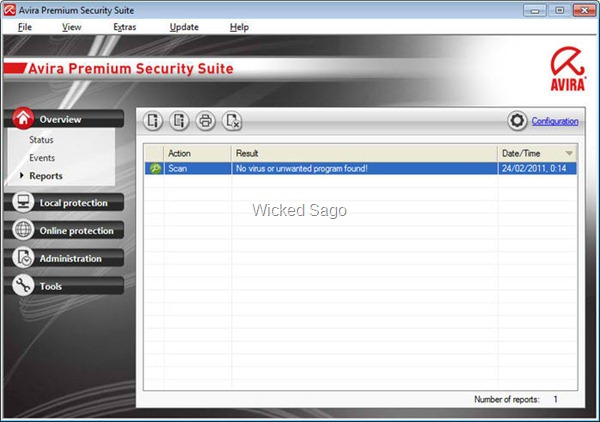 Avira Premium Security Suite: firewall, spam filter, child protection